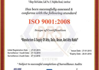 Kissan Foods ISO 9001:2008